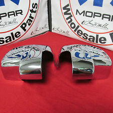 Dodge Nitro Jeep Liberty Chrome Side Mirror Covers NEW OEM MOPAR
