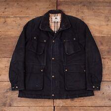 """Para Hombre de Colección Chaqueta de Abrigo Parka BURBERRY Londres Negro Tamaño XXXL 58"""" R4398"""