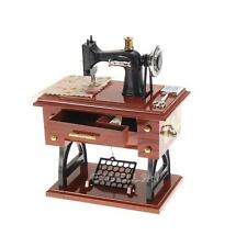Vintage Mini Sewing Machine Mechanical Music Box Birthday Christmas Gift  E0Xc