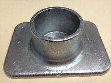 "2"" ID pipe base, Cast Aluminum, 4x5 3/8"", NEW. Pipe Flange, Railing mount."