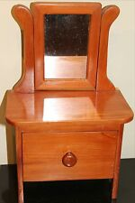Hand Made SOLID CEDAR DOLL DRESSER, AMERICAN GIRL SCALE Brass Plaque W/Signature