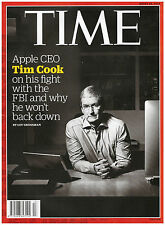 news magazine TIME march 28 2016 APPLE CEO TIM COOK ON HIS FIGHT WITH THE FBI