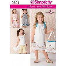SIMPLICITY SEWING PATTERN CHILD'S DRESS TOP PANTS & BAG SIZE 3 - 8  2391