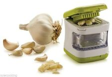 RSVP Garlic Press Cube Bin Easy Use Compact Quick Slice Dice Mince Cloves G-CUBE