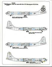 Warbird  B-36 Peacemaker Decals 1/72, Miss Featherweight, Pinocchio, 4 Options R