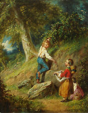 William Sanford Mason (1824 - 1864) American genre painting dated 1861.