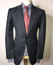 GIEVES & HAWKES NO 1 SAVILE ROW LONDON LUXURY SUIT CHARCOAL GREY 42x36x30