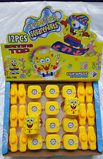 12 Spongebob chiffres LED Lumière Musique filature gyro peg-top kids jouets pour enfants UK