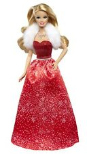 2014 Happy Holiday Wishes Barbie -CCP45- Red Dress- In Hand