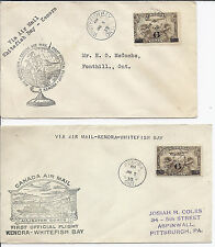 January 5 1935 Canada FFC Lot of 2 - Whitefish Bay & Kenora w/ C3*