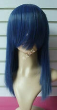 1058 New Medium Blue Black Cosplay Party Straight Wig