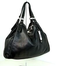 COLE HAAN BLACK GENUINE LEATHER HOBO SHOULDER EXTRA LARGE HANDBAG