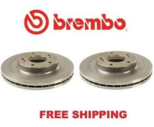2-Pieces Genuine Brembo 25545 Front Disc Brake Rotor Free Shipping