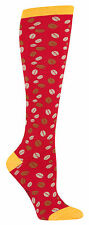 Sock It To Me Women's Funky Knee High Socks - Caffeinated