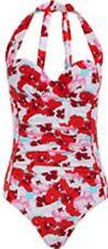 BNWT Costume Da Bagno Taglia 12 BUST 34b anni'40 stile con lettere da Evie Gamba Alta Imbottito