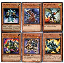 Yugioh - T.G. Striker + Rush Rhino + Warwolf + Catapult Dragon +Jet Falcon - NM