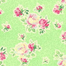 Cottage Shabby Chic Cotton Fabric Mary Rose Sweet Charms MR2150-15D Green BTY