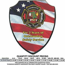 Custom 5x6 Wood Shield Award Plaques Personalized Color Print Police Firefighter