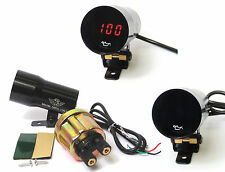 Universal Electronic Digital Oil Pressure Gauge Kit Project Track Car