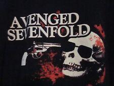 NWOT - AVENGED SEVENFOLD GUN & SKULL IMAGE Black Adult XL Short  Sleeve Tee