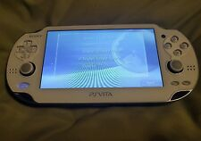 Sony Playstation PS Vita PCH1001Limited Crystal White WiFi + 32 GB card + more