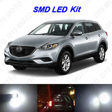 11 x White LED interior Bulbs + License Plate Lights for 2008-2015 Mazda CX-9