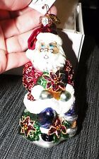 "CHRISTOPHER RADKO GREENHOUSE GREETINGS SANTA CLAUS ORNAMENT 5"" TALL"
