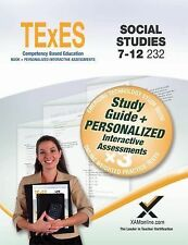 TExES Social Studies 7-12 232 Book + Online by Sharon Wynne (2015, Paperback)