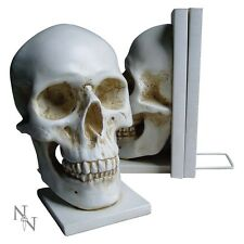NEMESIS NOW HUMAN SKULL BOOKENDS MACABRE ANATOMY MEDICAL GIFT GOTH BIKER
