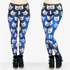 Cat heads in space soft leggings -  8 - 12 UK, cats, galaxy, geek animals weird