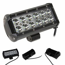 36W 12 Cree LED Work Light Bar Spot Beam Offroad 4WD SUV Fog Safe Driving Lamp