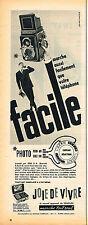 PUBLICITE ADVERTISING 114  1957  SEMFLEX   appareil photo JOIE DE VIVRE
