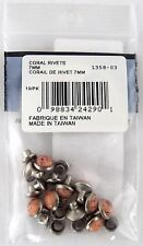 Synthetic Coral Rivets (7mm) - Pkg/10 - Tandy Leather #1358-03 (New Old Stock)