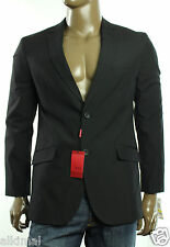 New Mens Alfani Red Label Slim Fit Notch Lapel Black Sportcoat Blazer Jacket L