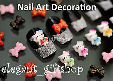 30pcs DIY 3D Resin Mini Cute Bow Knot Nail Art Cell Phone Case Decoration #ED02