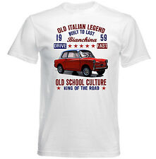 VINTAGE ITALIAN AUTOBIANCHI BIANCHINA 1959 - NEW COTTON T-SHIRT