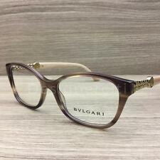 Bvlgari 4109-B 4109 B Eyeglasses Brown Turtledove Gold 5240 Authentic 52mm