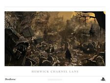 BLOODBORNE Authentic Lithograph Hemwick Charnel Lane Poster SOLD OUT
