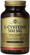 Solgar L-Cysteine 500 mg 90 Count Vegetable Capsules