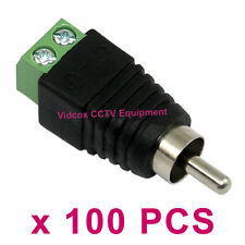 100 UTP CAT5 CAT6 to AV Phono Male RCA Connector Jack for CCTV Microphone Camera