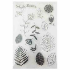 Leaves scrapbook DIY photo cards letter diary silicone transparent seal craft