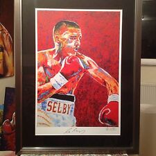 Boxing Framed Lee Selby Signed Contemporary Art Print By Patrick J. Killian