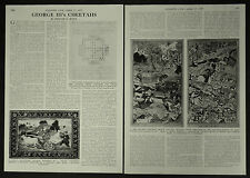 King George III Cheetahs Tipu Sultan 1957 2 Page Illustrated Article