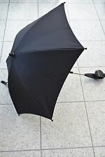 Mamas and Papas BLACK Pram Universal PARASOL SUN CANOPY UMBRELLA