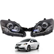 Fit 07-12  Toyota Vios Yaris Sedan Belta Sedan Projector LED Head lamp Lights