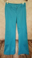 Victoria's Secret BBV Christie Fit Wide Leg Dress Pants Aqua Blue Size 4 Stretch
