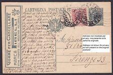 PIRELLI 04 GOMME PER CANCELLARE Cartolina PUBBLICITARIA COMMERCIALE viagg. 1926