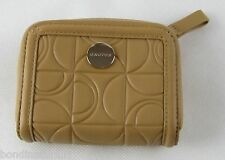 NEW OROTON OUTLINE NATURAL LIGHT BROWN LEATHER ZIP AROUND COIN PURSE  RRP$195