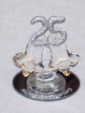 25th ANNIVERSARY BELLS@Cooking~Gift@Cake Topper@Decoration@UNIQUE SILVER WEDDING