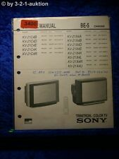Sony Service Manual KV 21C4D / 21X4D /A /B /E /K /U Color TV (#3400)